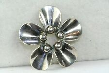 VINTAGE STERLING SILVER NE FROM DENMARK FLOWER PIN