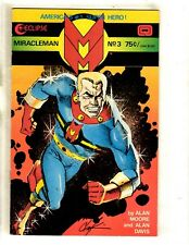 Miracleman # 3 VF Eclipse Comic Book Alan Moore Alan Davis 1st Print J339