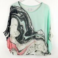 Diane von Furstenberg Robyn Top Womens Size Small Silk Blouse Lined Tank Batwing