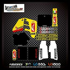 Suzuki RM125 89-92 Chesterfield Elf Kit Yellow Decal Sticker Evo MX (283)