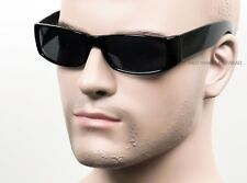 Cholo Gangster Sunglasses Dark Smoke OG LOC Style Lowrider Black Glossy 17SD