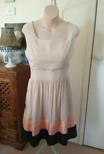 FRIENDS OF COUTURE - Baby Pink Vintage Dress  Peach & Black rockabilly pinup 10