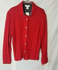Cato Woman Size 18  Button Front Cardigan Sweater Red NWT FREE S&H
