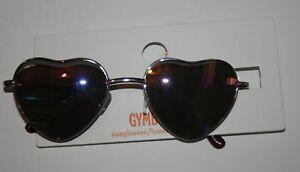 New Gymboree Hello Yellow Iridescent Heart Frame Sunglasses Size 4 & Up NWT
