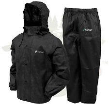 Frogg Toggs All Sport Rain Suit Jacket & Pants Gear Wear Sports Frog Black LG