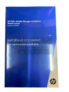 J9751A I Brand New Sealed HP PCM+ Mobility Manager v4 Software Module License