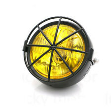 """Universal 6.5"""" Retro Motorcycle Headlight Side Mount Cover Cafe Racer  Chopper"""