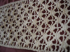 #112  Beautiful Vintage Handmade Lace 47''/5''(120cm/13cm)