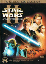 STAR WARS - Episode II [2] ATTACK Of The CLONES DVD 2-DISC SET LIKE NEW R4