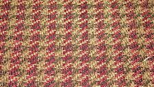 Red Black Gold Herringbone Chenille Upholstery Fabric 1 Yard F808