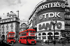 Red Bus Poster Piccadilly Circus London England New