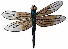 "#4370 3-1/4"" Embroidery Iron On Dragonfly Applique Patch"