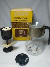 CORY GLASS STOVE TOP PECULATOR COFFEE POT