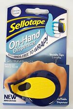 Sellotape On Hand Dispenser & Includes One Super Clear Tape Roll 18mm x 15m New