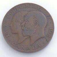 1927 Canada Royal Family Visit Confederation Commemorative Token 1in 11.2g J560