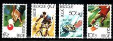 SELLOS DEPORTES FUTBOL BELGICA 1982 2039/42 4v., ESPAÑA 82 ciclismo, Billar,