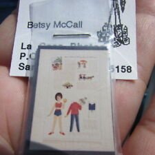 Betsy McCall Doll Paper Dolls Miniature Set Vintage 1980s