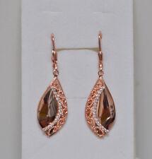 Echt 925 Sterling Silber Ohrringe Ohrhänger Zirkonia crystal rosegold  Nr 319