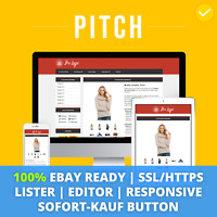 PITCH RED eBay Template 2019 Responsive Ebayvorlage Auktionsvorlage SSL/HTTPS