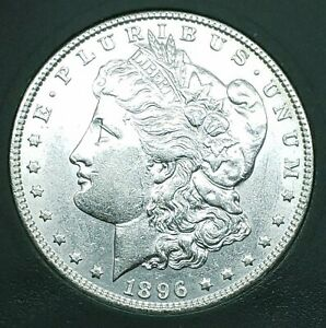 Beautiful 1896 Morgan Silver Dollar, Estate Find