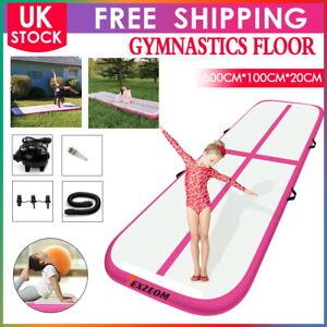 6M Air Yoga Track Floor Inflatable Airtrack Gymnastics Tumbling GYM Mat + Pump