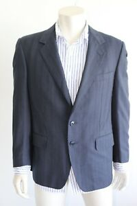Ermenegildo Zenga Blazer Jacket - Blue/Silver Stripe (Made in Spain)- Size Large