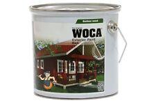 24,80€/1L - Woca Exterior Farbe Schwarz - 2,5 Liter / Holz  / Außenfarbe / Lack
