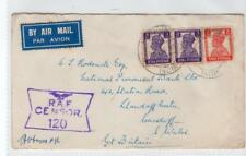 INDIA: KGVI Air Mail cover to Cardiff with RAF Censor mark  (C35184)