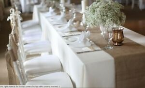 "20 pack Burlap Table Runner 14"" x 72"" 100% JUTE BURLAP TABLE DECOR WEDDING SHOW"