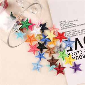 20 Mix Fabric Patches Stars For Crafts DIY Sewing Embellishments Art Decors 3cm