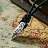 Latest Vintage Silver Alloy Bullet Pendant Necklace Chain Men Jewelry Gift New