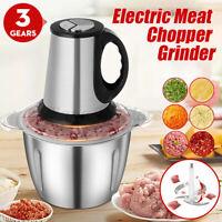 3 Gear 3L Electric Meat Grinder Food Processor Vegetables Chopper Mincer Blender