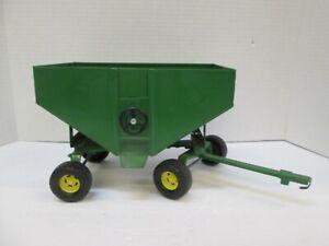 ERTL Gravity Feed Grain Hopper 4164-9011 Toy Farm Wagon USA Deere Green 326-8312