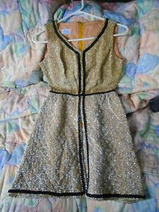 Women's Vintage Clothing 70's Two Toned Split Shirt Dress