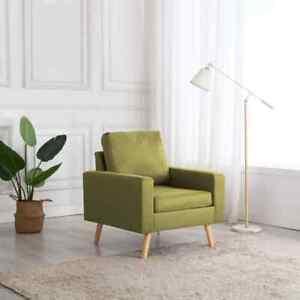 vidaXL Sessel Grün Stoff Relaxsessel Sofa Polstersessel Einzelsofa Lounge