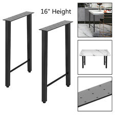 "2pcs Coffee Table Legs 16"" Industry Table Leg Metal Steel Chair Bench Desk DIY"