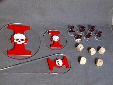 Warhammer 40K 40000 Blast Templates, Dices, Tactical Bundle Grey Knights