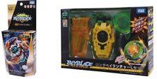 Takara Tomy Beyblade BURST B-122 Geist Fafnir & B-124 Long Bey Launcher Set