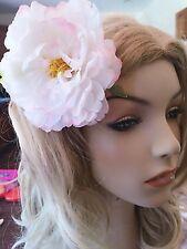 USA SELLER Hair Fashion Fabric Flower Clip Brooch Beach PIN White New
