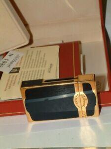 S.T. Dupont Feuerzeug China Lack dunkelblau/Gold, limitiert OVP, Zertifikat