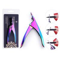 BORN PRETTY Nail Clipper Colorful False Tips Edge Cutter Fake Nails Nipper Tools