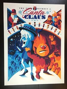 """""""THE YEAR WITHOUT A SANTA CLAUS"""" TOM WHALEN LIMITED EDN SCREEN PRINT $90"""
