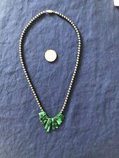 Hematite And Malachite Bead Necklace
