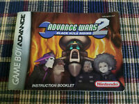Advanced Wars 2 Black Hole Rising - Authentic - Game Boy Advance - Manual Only!