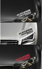 FOR HYUNDAI -  PERFORMANCE HEADLIGHT CHECKS - CAR DECAL STICKER ADHESIVE - I30