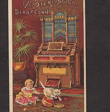 Symphonium Organ Sterling Piano Derby CT Brattleboro White Cat Advertising Card