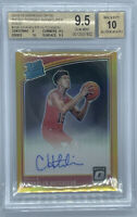 ROOKIE! 2018-19 Donruss Optic Gold Prizm Chandler Hutchison RC Auto BGS 9.5/10!