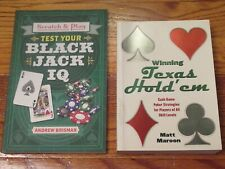 Black Jack and Texas Hold 'em Books (Lot of 2)