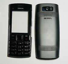 B 00004000 lack Cover Housing Fascia facia faceplate Case skin for Nokia X2-02 X2 02