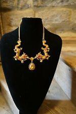 Butler and Wilson Enamel  golden Dragons  Necklace NEW